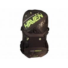batoh HAVEN RIDE-KI 22l černo/zelený bez rezervoáru s chráničem páteře