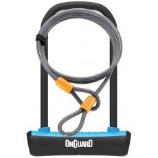 zámek ONGUARD podkova 115x230x11 mm modrá + lanko 1200x10 mm