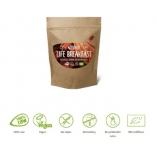 granola Lifefood Breakfast Bio Raw čokoládová s mandlemi 230g