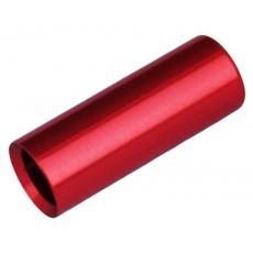 koncovka bowdenu MAX1 CNC Alu 4 mm utěsněná červená 100 ks