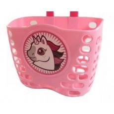 koš dětský barevný růžový Koník + pásky