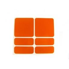 samolepky reflexní ShamanRacing set 6ks oranžové