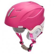 Meteor Lumi ski helmet pink / white 24870-24871
