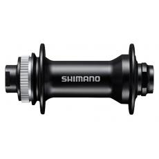 náboj disc Shimano HB-MT400-B 32děr Center Lock 15mm e-thru-axle 110mm přední černý