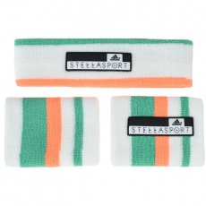 Adidas Women's Stellasport Headband Wristband Set białe One size
