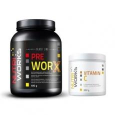 Pre Worx 480g borůvka + Vitamin C 200g ZDARMA