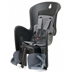 sedačka Polisport Bilby na nosič černo-tmavě šedá