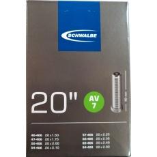 """duše SCHWALBE AV7 20""""x1.50-2.00 (40-406/54-428) AV/40mm"""