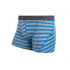 boxerky SENSOR MERINO ACTIVE modro/šedé pruhy