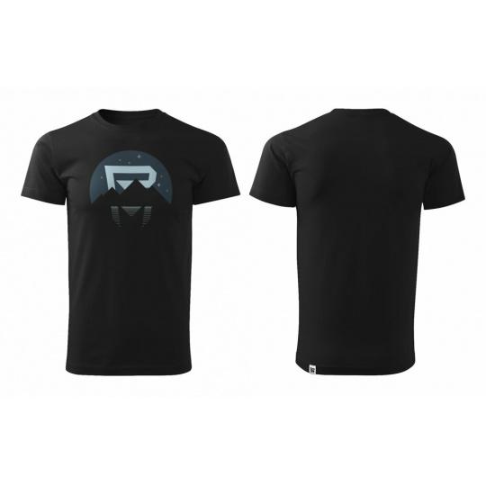 tričko ROCK MACHINE Sunset černo/šedé vel.L