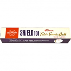 Shield table tennis balls 6 pcs. White