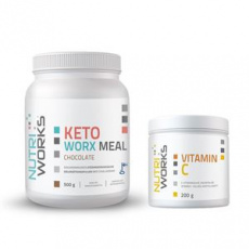 KetoWorx Meal 500g čokoláda + Vitamin C 200g ZDARMA