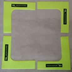 Field markers, flat corners, set of 4,