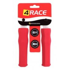 gripy 4RACE tvrzené pěnové NBR127mm červené