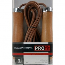 Leather skipping rope PROFIT DROP DK 1019