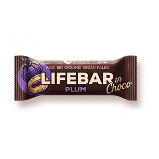 tyčinka Lifefood Lifebar InChoco švestka Bio Raw exp.11/21