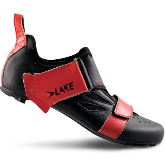 tretry LAKE TX223 Carbon černo/červené vel.44