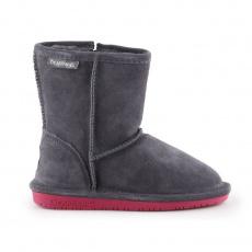 BearPaw Emma Toddler Zipper Jr Charcoal Pomberry winter shoes