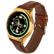 Watch, smartwatch GT18 gold leather
