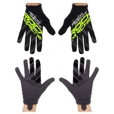 dlouhoprsté rukavice ROCK MACHINE Race zelené vel.S