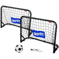 A set of metal goals with a net, ball, pump 60x45x24 Best Sporting
