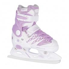 brusle zimní roztahovací dětské Tempish CLIPS ICE bílo-fialové