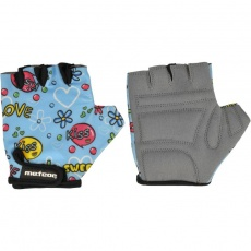 Meteor Junior Kiss Love cycling gloves blue