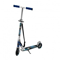 Aluminum scooter with foot and transport strap LA Sports