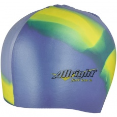 Allright swimming cap, silicone, blue and yellow