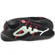 Aqua-speed beach shoes black gray-red 19A