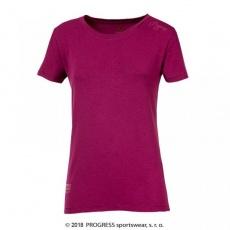 triko krátké dámské Progress CC TKRZ coffe fialové