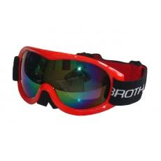 brýle lyžařské BROTHER B259 dvojsklo červené