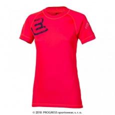 triko krátké dámské Progress DF NKRZ PRINT červené