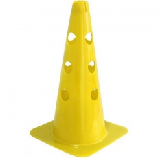 Cone with holes 37.5 cm yellow