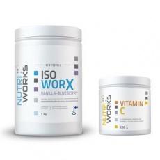 Iso Worx NEW FORMULA 1kg vanilka - borůvka + Vitamin C 200g ZDARMA