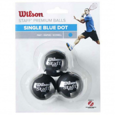 Squash balls Wilson Staff Single Blue Dot WRT618000