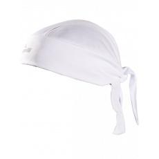 šátek Rogelli BANDANA pod přilbu bílý