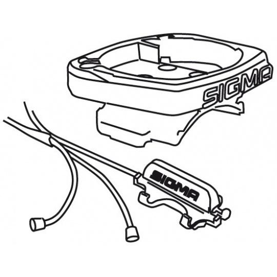 kabeláž SIGMA computeru s kompletní  (BC 509-1609) UNI