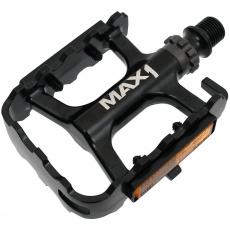 pedály MAX1 Race ložiskové hliníkové černé