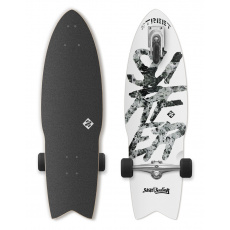 "Street Surfing Longboard Street Surfing SHARK ATTACK 30"" Great White"