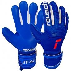 Goalkeeper gloves Reusch Attrakt Freegel Silver Finger Support Junior 5172238 4010