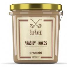 Arašídy - Kokos 60 / 40 mělněné 300g (Arašídovo-kokosový krém)
