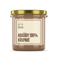 Arašídy 100% pražené mělněné křupavé 330g (Arašídový krém křupavý)