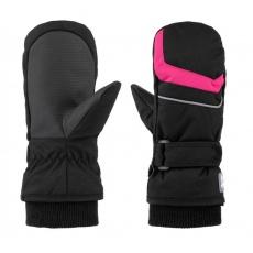 rukavice dětské LOAP RUFFI zimní černo/růžové