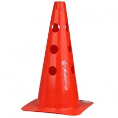 Cone with holes 37.5 cm red