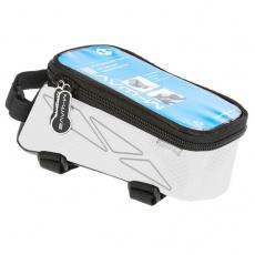 brašna M-WAVE přední na mobil L bílá
