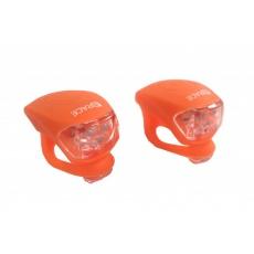 blikačka přední+zadní 4RACE LS03 silicon oranžová