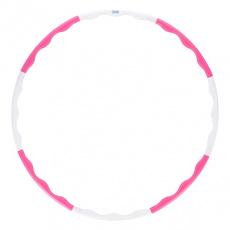 Hula-hop obruč ONE Fitness HHP090 růžovo-bílá 90 cm