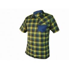košile krátká pánská HAVEN Agness Slimfit modrá/žlutá