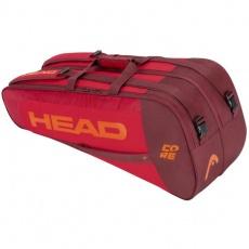 Core 6R Combi tennis bag red-claret-orange
